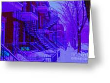 Frost On  Winding Staircases Greeting Card