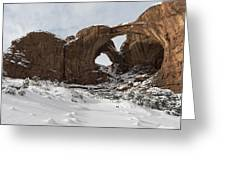Frosted Double Arch Greeting Card