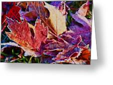 Frosted Leaves #2 - Painted Greeting Card