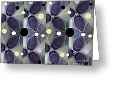 Frosted Purple Flower Greeting Card
