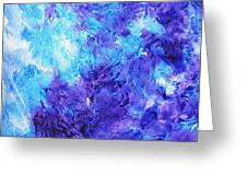 Frosted Window Abstract IIi Greeting Card
