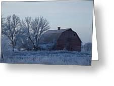 Frosty Barn Greeting Card