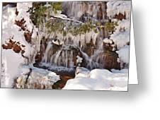 Frosty Cascades Greeting Card