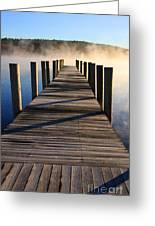 Frosty Docks 3 Greeting Card