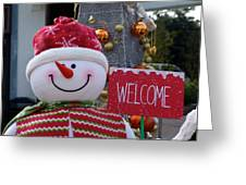 Frosty Greetings Greeting Card