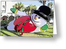 Frosty Is Here Greeting Card