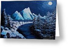 Frosty Night In The Mountains Greeting Card