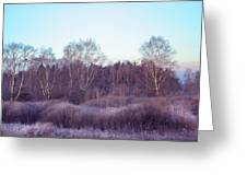 Frosty Purple Morning In Russia Greeting Card