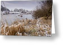 Frosty River Tyne Greeting Card