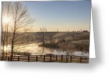Frosty Sunrise Greeting Card