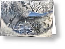 Frosty Winter Window Greeting Card
