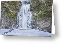 Frozen At Multnomah Falls Greeting Card