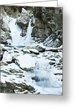 Frozen Bash Bish Falls Greeting Card