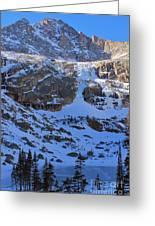 Frozen Black Lake Greeting Card