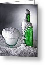 Frozen Bottle Ice Cold Drink Greeting Card by Dirk Ercken