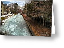 Frozen Canal Greeting Card