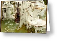 Frozen Cascade Greeting Card