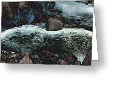 Frozen Cave Greeting Card