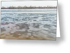 Frozen Dnieper River Greeting Card