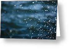 Frozen Droplets Greeting Card