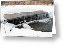 Frozen Falls At Pine Creek Greeting Card