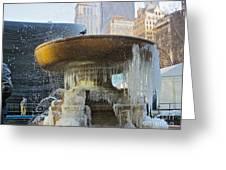 Frozen Fountain Greeting Card by Maritza Melendez
