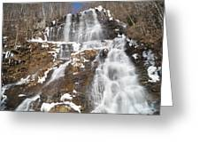 Frozen Falls From The Bridge Greeting Card