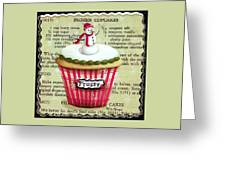 Frozen Frosty Cupcake Greeting Card