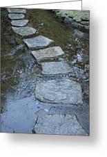 Slippery Stone Path Greeting Card