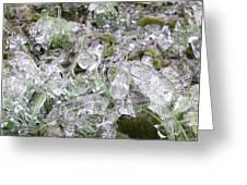 Frozen Green Greeting Card