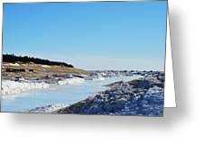 Frozen Lake Michigan Greeting Card