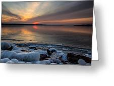Frozen Lewis And Clark Lake Greeting Card
