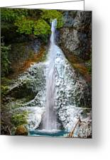 Frozen Marymere Falls Greeting Card