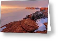 Frozen Mesa Greeting Card