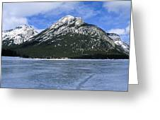 Frozen Minnewanka Greeting Card