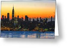 Frozen-new York At Dawn  Greeting Card