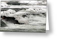 Frozen Niagara River Rapids Above Niagara Falls Greeting Card
