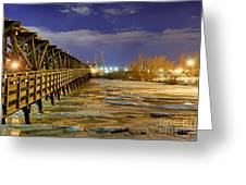 Frozen Pier Greeting Card