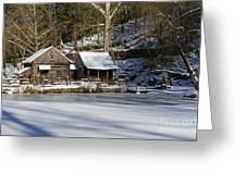 Frozen Pond  Greeting Card