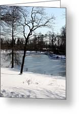 Frozen Pond2 Greeting Card