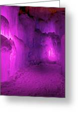 Frozen Purple Rain Greeting Card