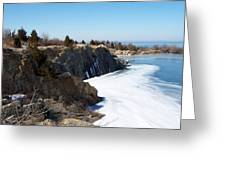 Frozen Quarry Greeting Card