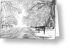 Frozen Rain  Greeting Card