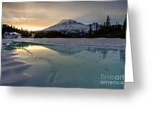 Frozen Rainier Vision Greeting Card