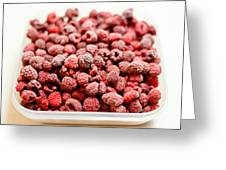 Frozen Raspberries Greeting Card