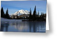 Frozen Reflection Greeting Card