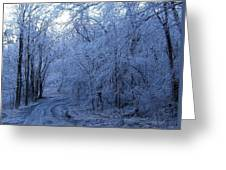 Frozen Road Greeting Card