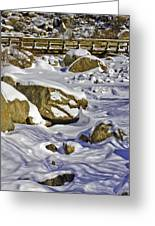 Frozen Roaring River Greeting Card by Tom Wilbert