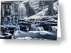Frozen Scaleber Force Falls Greeting Card