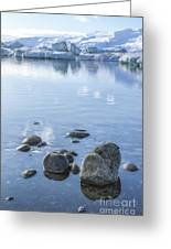Frozen Serenity Greeting Card